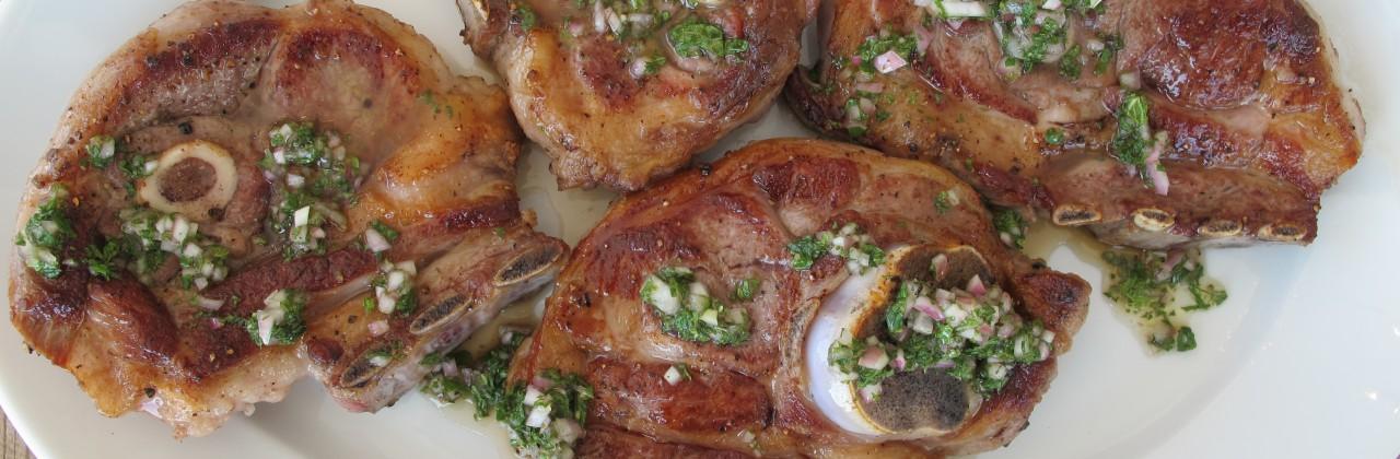Lamb Shoulder Chops with Mint Vinaigrette