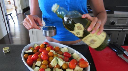 Roasted eggplant and tomato pasta-05