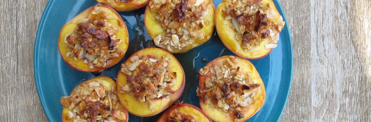 Honey-Nut Baked Peaches