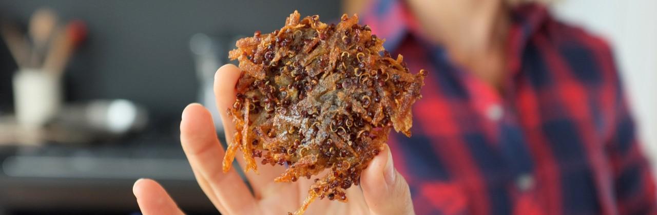Quinoa-Potato Crisps