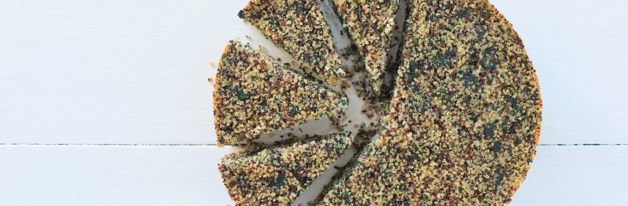 Quinoa-Spinach Cake