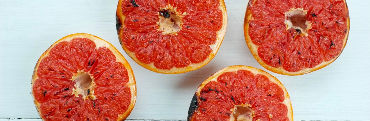 Cardamom Sugar Broiled Grapefruit