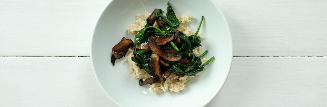 Mushroom-Spinach Bowls
