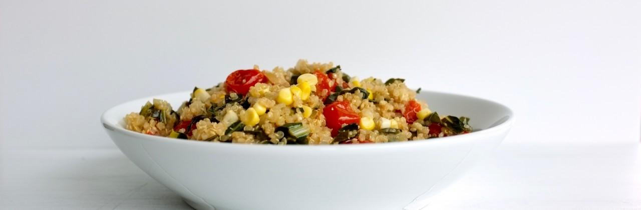 Quinoa with Collards and Corn