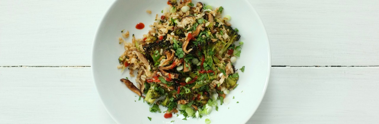 Sheet Pan Broccoli Fried Rice