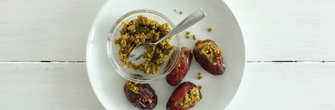 Pistachio and Honey Stuffed Dates
