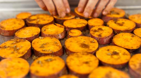 Roasted Sweet Potato Coins Recipe From Jessica Seinfeld