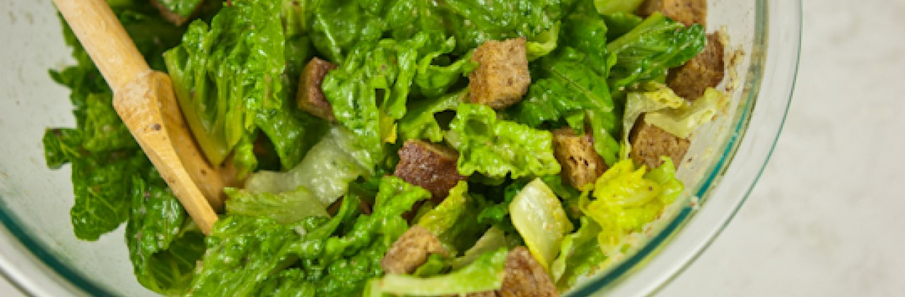 Caesar Salad with Whole-Wheat Croutons