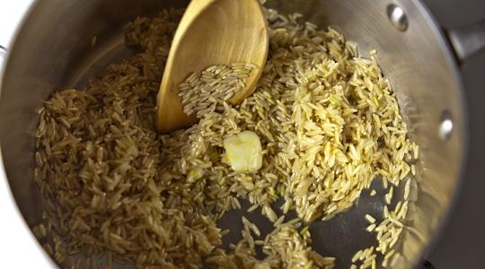 Brown rice pilaf-09