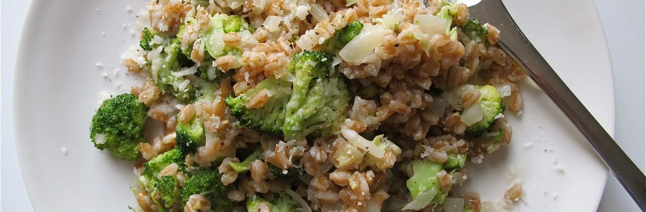 Farro Risotto with Broccoli