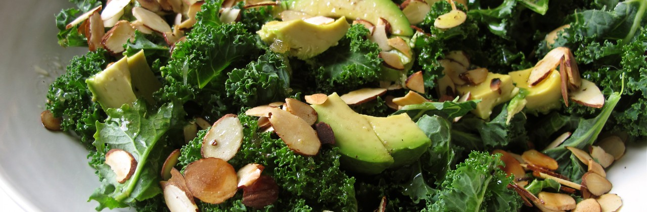 Kale Salad with Avocado and Almonds