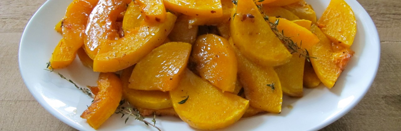 Roasted Butternut Squash with Thyme and Lemon