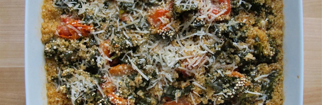 Cheesy Baked Quinoa