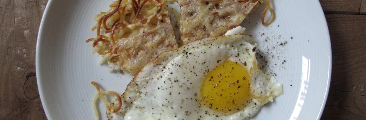 Fried Pasta and Eggs