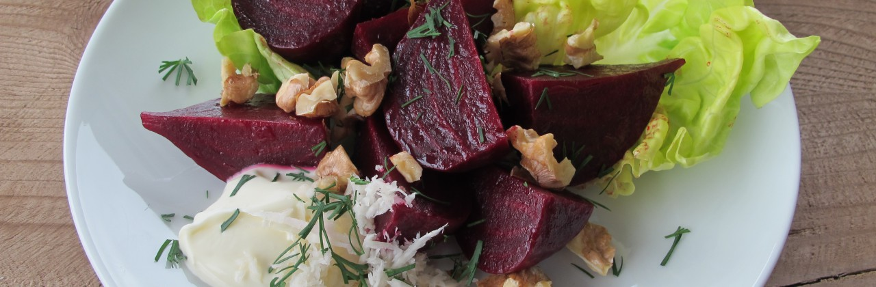 Beet Salad with Walnuts and Dill