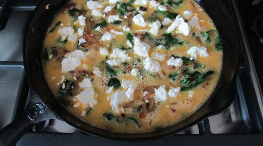 Spinach and goat cheese frittata-07