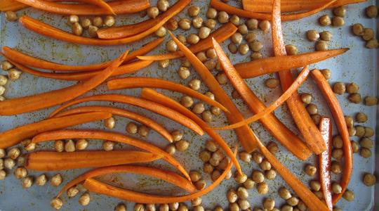 Roasted carrots and chickpeas-05