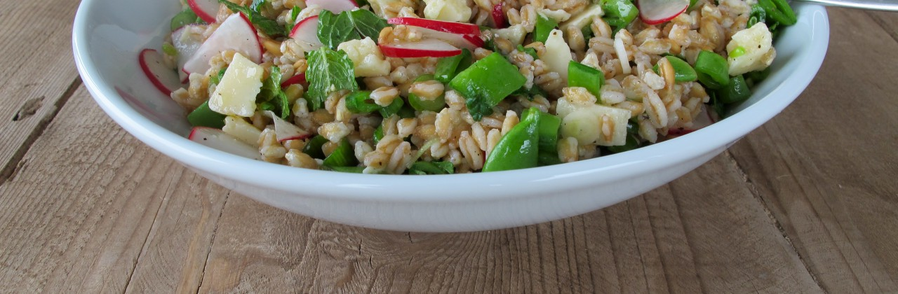 Farro Salad with Snap Peas and Parmesan