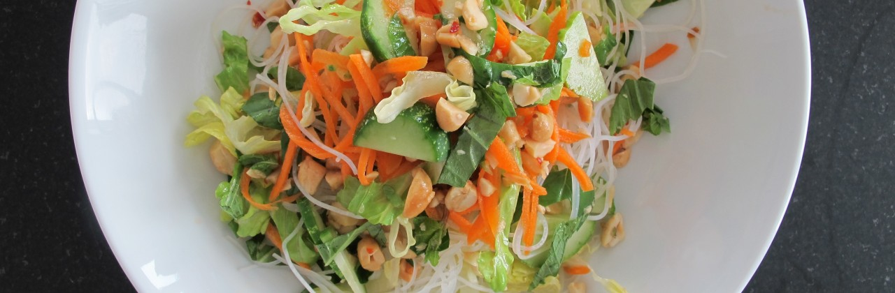 Rice Noodle Salad with Peanuts and Cucumber