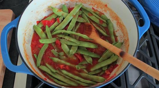 Stewy green beans and tomatoes-11