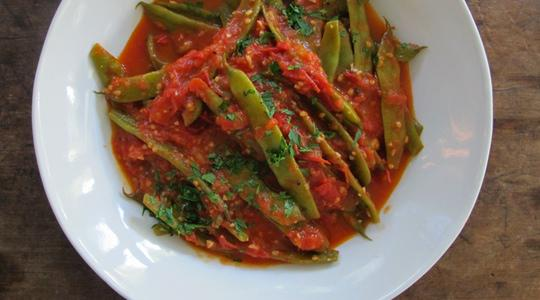 Stewy green beans and tomatoes-13