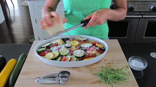 Zucchini and eggplant casserole-05