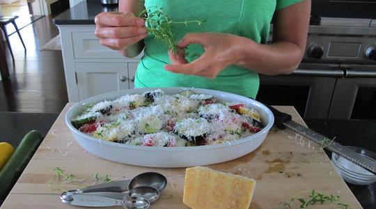 Zucchini and eggplant casserole-06