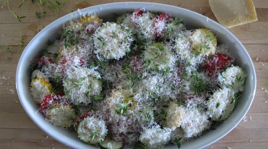 Zucchini and eggplant casserole-07