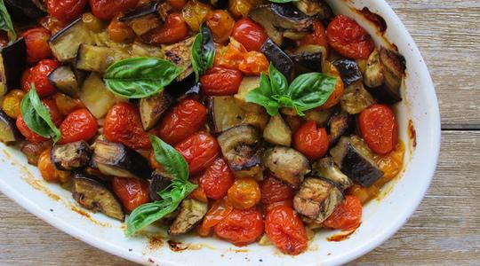 Roasted eggplant and tomato pasta-09
