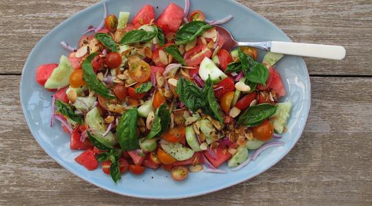 Watermelon cucumber salad-11