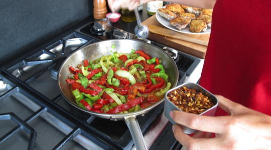 Tangy  spicy chicken with peppers-12