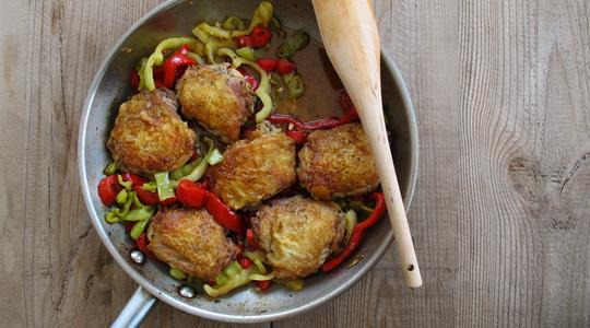 Tangy  spicy chicken with peppers-14