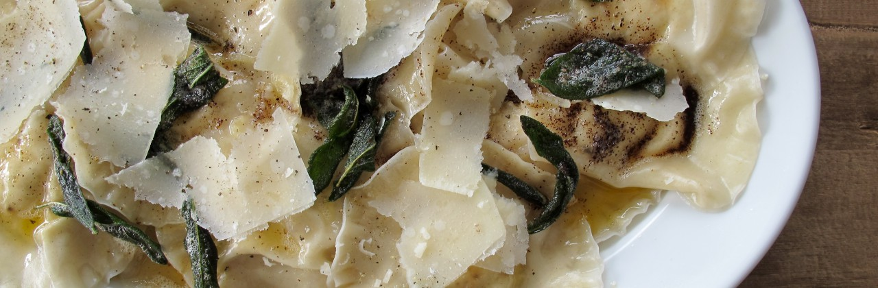 Ricotta Ravioli with Sage Brown Butter