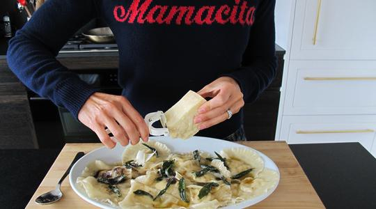 Ravioli with sage brown butter-16