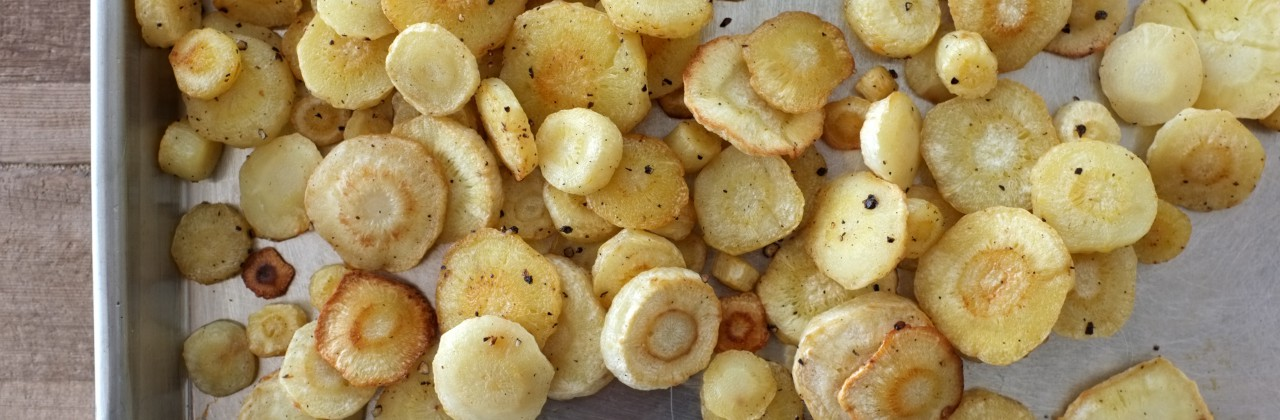 Roasted Parsnip Coins