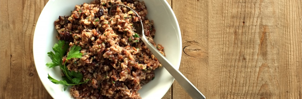 Wild Rice with Dried Cranberries and Pecans