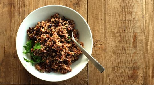 Wild rice with dried cranberries and pecans-13