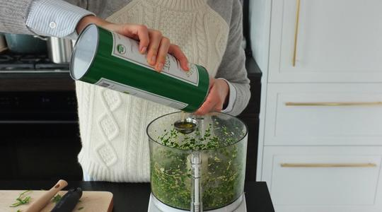 Pesto parsley steamed halibut-07