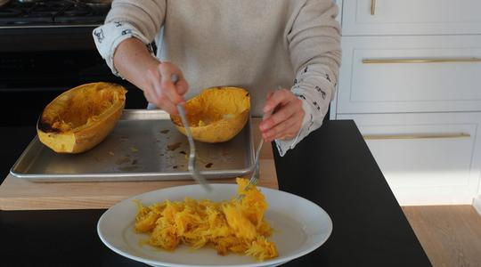 Roasted spaghetti squash-almond butter-13