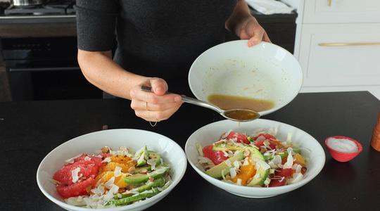 Cabbage bowl with citrus  avocado-10