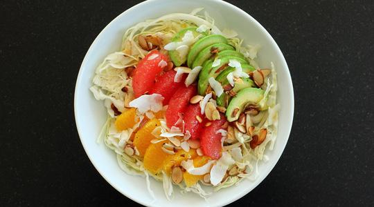 Cabbage bowl with citrus  avocado-11