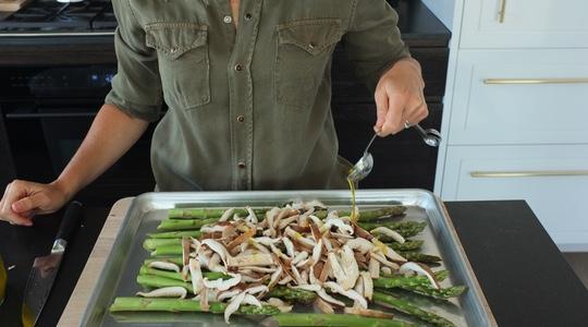 Roasted asparagus and shitake-05