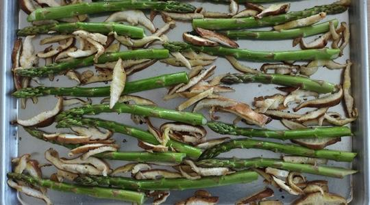 Roasted asparagus and shitake-07