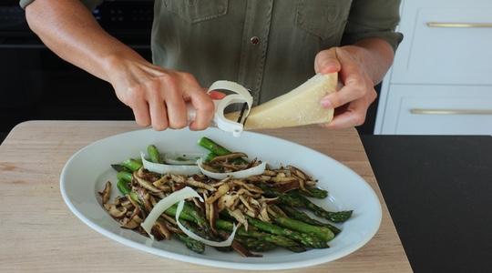 Roasted asparagus and shitake-09