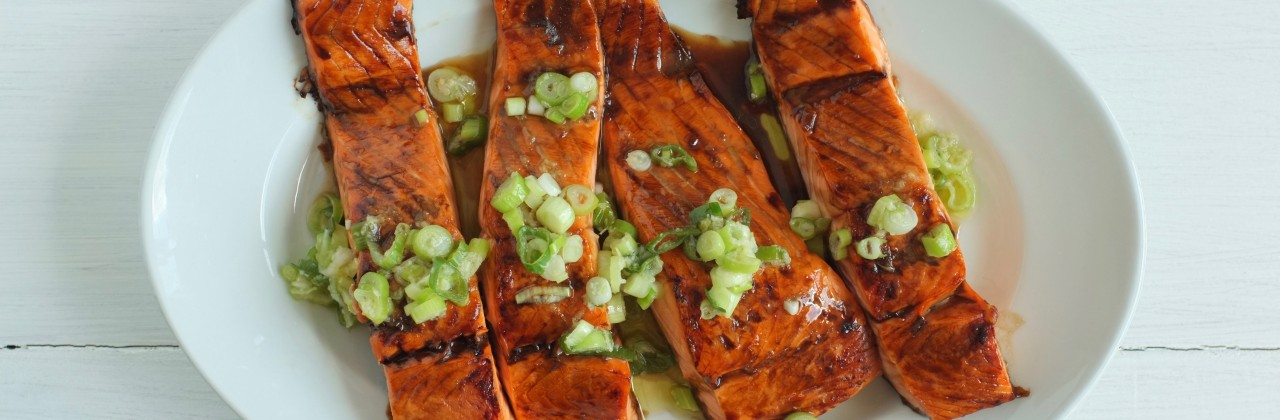 Salmon with Ginger-Scallion Vinaigrette