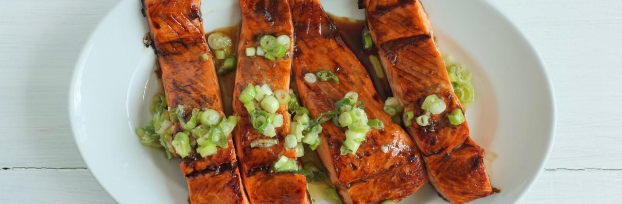 Salmon with Ginger-Scallion Vinaigrette