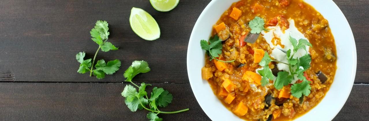 Coconut Lentil and Vegetable Stew