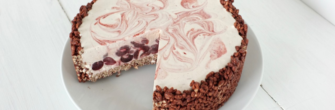 Sweet Cherry Ice Cream Pie