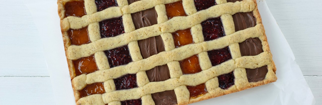 Jam and Nutella Crostata