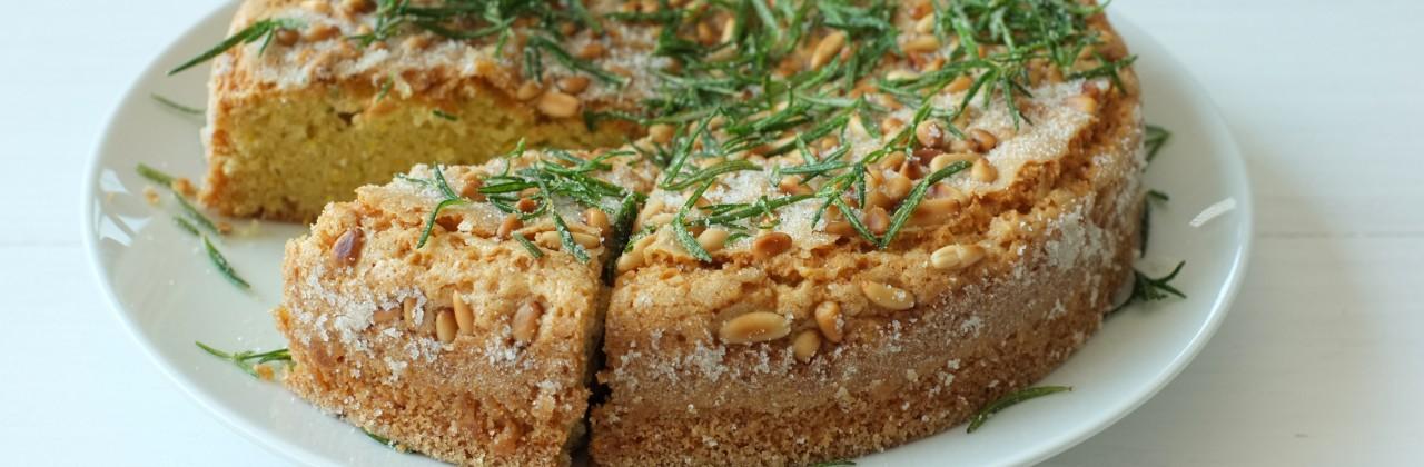 Pine Nut Rosemary Cake